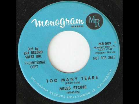 Miniatura del vídeo MILES STONE Too Many Tears MONOGRAM
