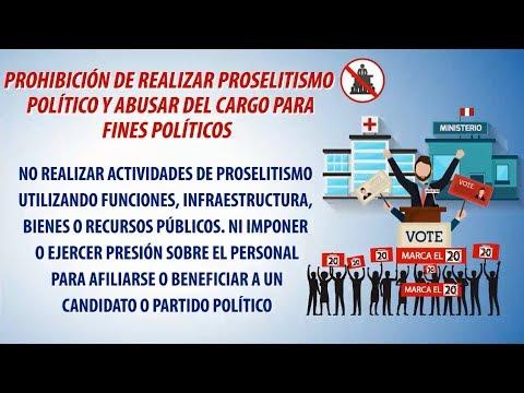PROHIBICIÓN DE REALIZAR PROSELITISMO Y ABUSAR DEL CARGO PARA FINES POLÍTICOS