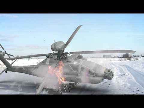 3D helicopter crashing vfx