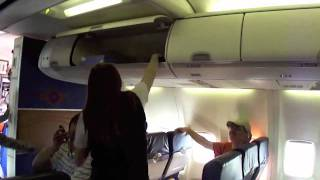 [Prank to a flight attendant]