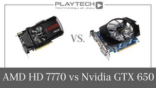 PlaytechTV AMD Radeon HD 7770 Vs. Nvidia GeForce GTX 650