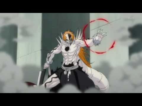 Bleach - Hollow Ichigo vs Zangetsu, Hollow Ichigo attacks the manifested Zangetsu