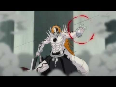 Bleach - Hollow Ichigo vs Zangetsu, Hollow Ichigo attacks the manifested Zangetsu