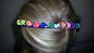HOW TO MAKE RAINBOW LOOM TULIP HEADBAND