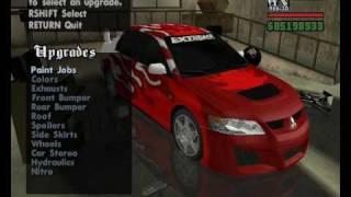 GTA San Andreas Car Mods: Tuning Kits Part I