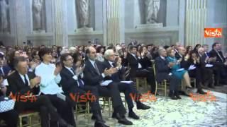 MATTARELLA AL CONCERTO PER L AQUILA ALLA CAPPELLA PAOLINA AL QUIIRNALE 29-03-15