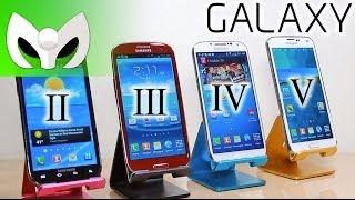 Galaxy S5 Vs S4 Vs S3 Vs S2 (VELOCIDAD, Evolution)