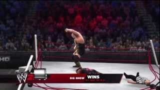 WWE 2K14 How To Break The Ring In A Match!