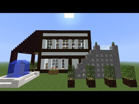 Minecraft tutorial como hacer una casa moderna y bonita for Casas modernas grandes minecraft