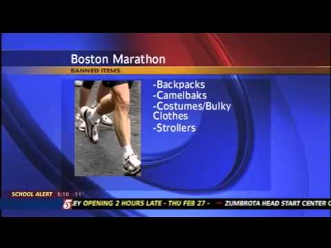 Boston Marathon Bans Bags as Part of Security Plan