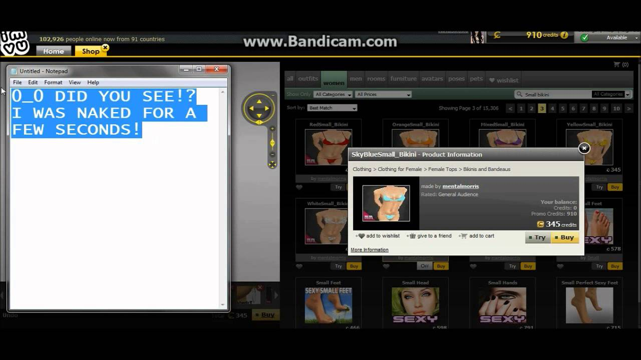 HOW TO GET NAKED ON IMVU HACK 😌*WORKING* - YouTube
