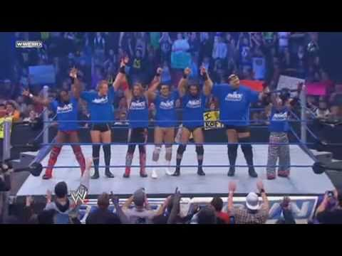 Team RAW vs Team Smackdown (with Finishers)