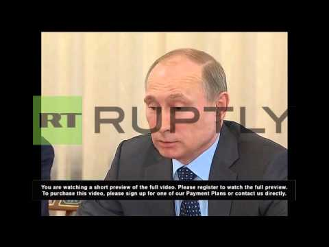 Russia: Putin hails German business at Siemens meeting