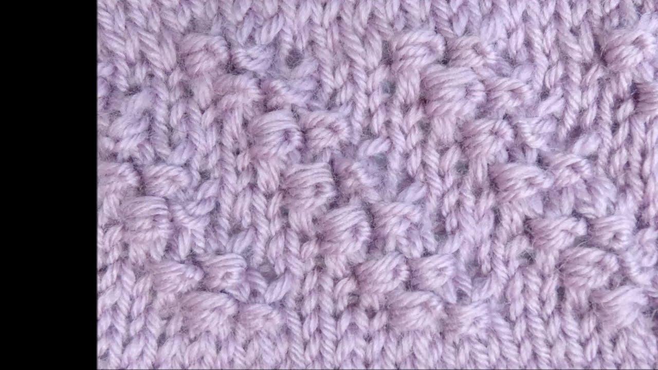Strickmuster Diagonale Knoten mit Wickelmaschen - Knitting Diagonal Knots wit...