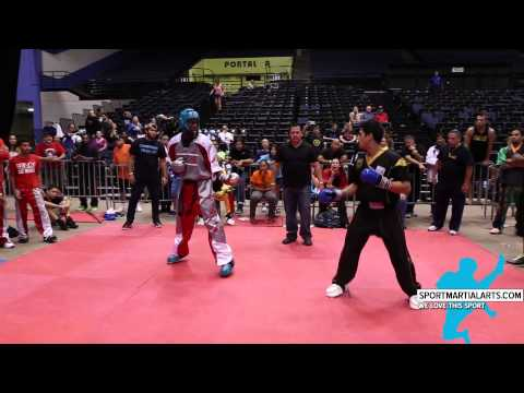 Ryan George vs Justin Ortiz - Superfights Semi Final - Kratos World Karate Championships 2014