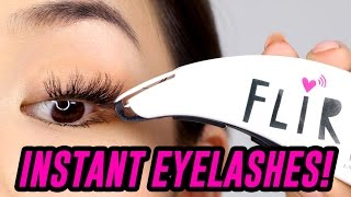 INSTANT EYELASH DEVICE! DOES IT WORK?  TINA TRIES IT