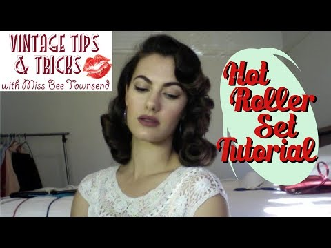 Vintage Hot Roller Set Tutorial