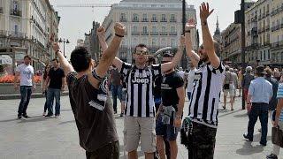 Real-Madrid Juventus, i tifosi bianconeri in Spagna -  Juventus fans in Madrid