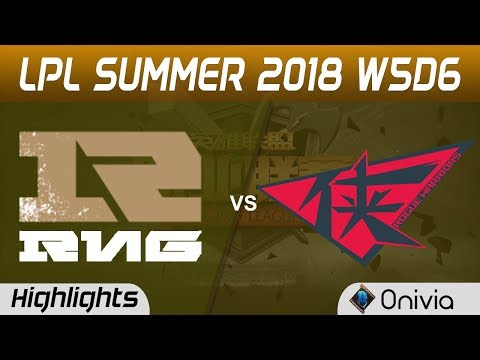 RNG vs RW Highlights Game 1 LPL Summer 2018 W5D6 Royal Never Give Up vs Rogue Warriors by Onivia