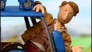 Červený traktor - Veterný deň