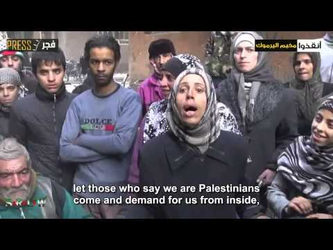 Syrian News-+18 SYRIA Interviews with Al-Yarmouk residents after not receiving the aids on 19/1/2014