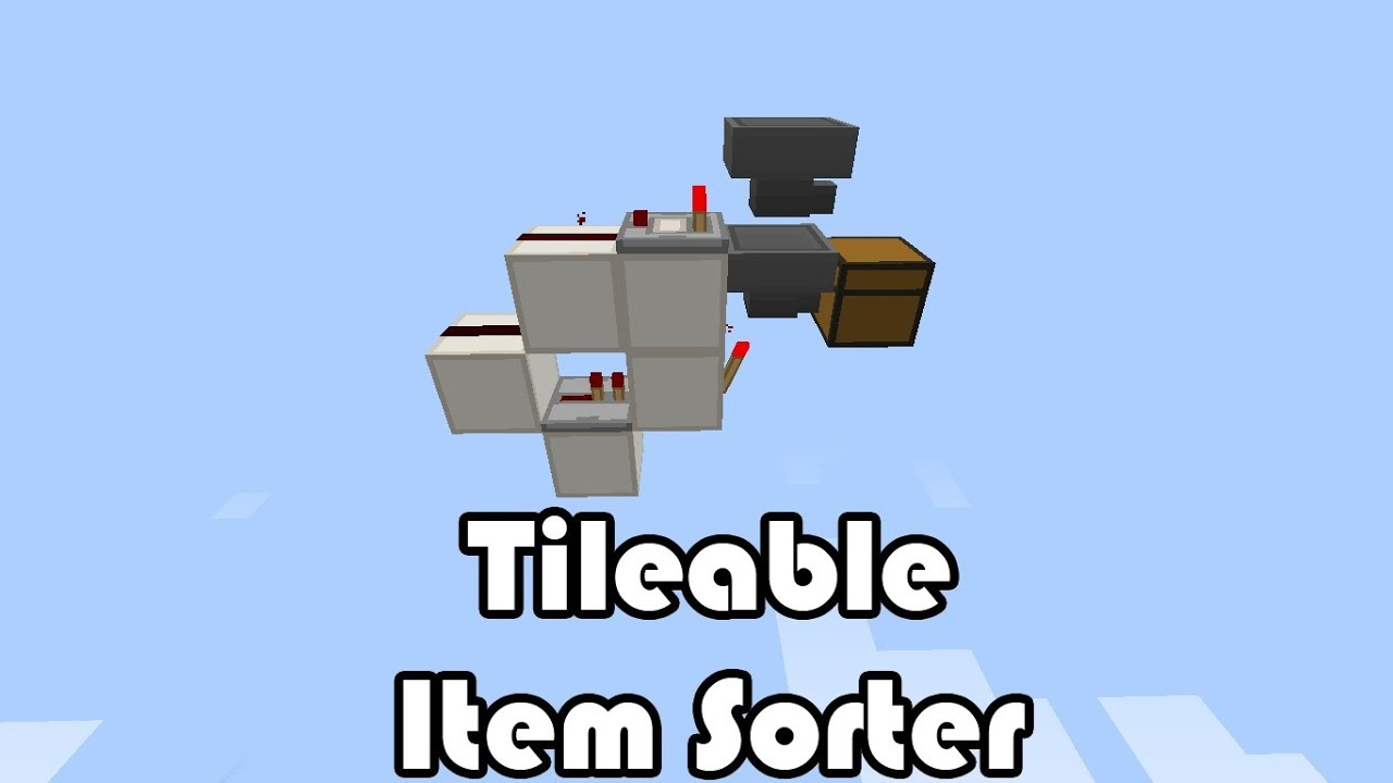 Minecraft - Tutorial: Quick & Easy Item Sorter (With ...