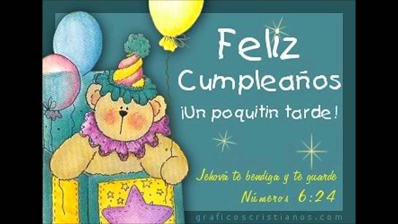 Feliz Cumpleaños atrasado You
