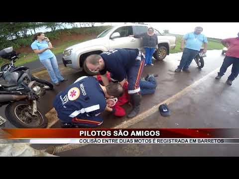 22/02/2019 - Colisão envolvendo duas motos deixa dois feridos na Via das Comitivas em Barretos