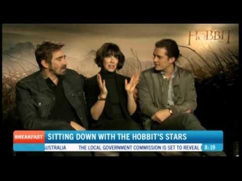The Hobbit: BOFA Evangeline Lilly, Orlando Bloom, Lee Pace Press Interview