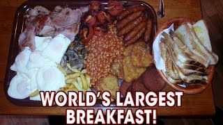 World's LARGEST Breakfast Challenge Defeated TWICE!!