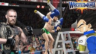 Vegeta VS Conor MCgregor - WRESTLEMANIA 33 - (WWE World Heavyweight Championship)