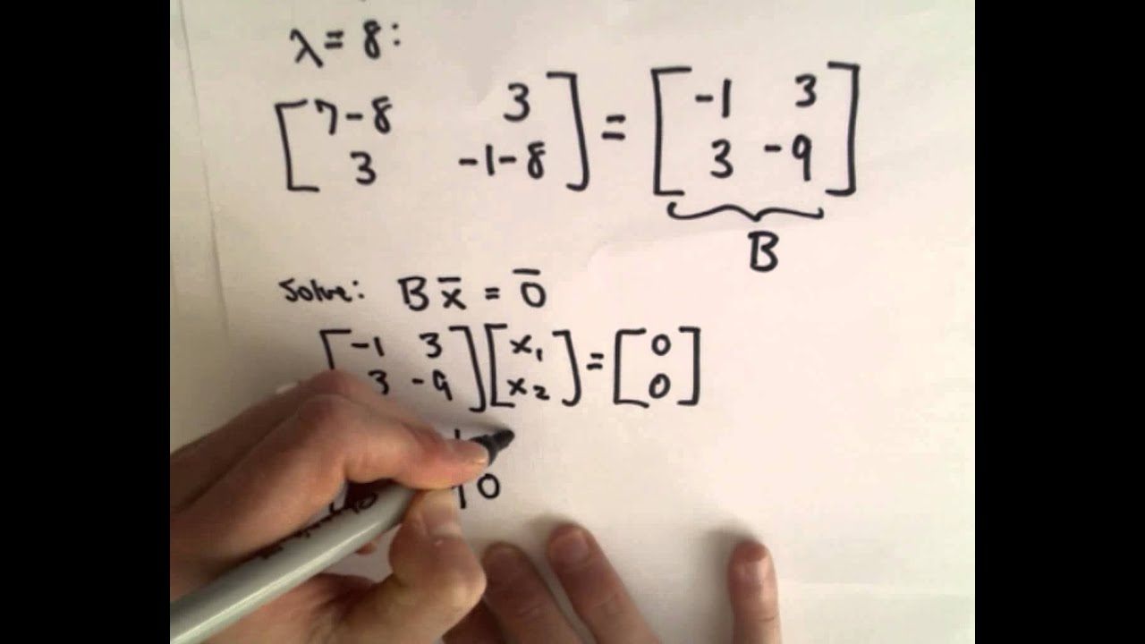 how to work out eigenvectors