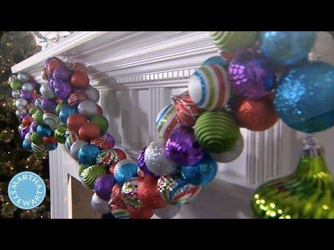 holiday diy colorful ornament garland martha stewart. Black Bedroom Furniture Sets. Home Design Ideas