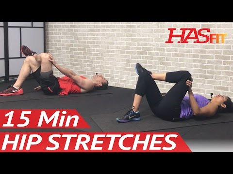 15 Min Hip Stretches: Hip Stretching Exercises for Hip Pain - Hip Stretch & Rehab Mobility Drills