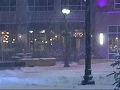 Raw: Penn. Commuters Head Out On Foot Amid Storm