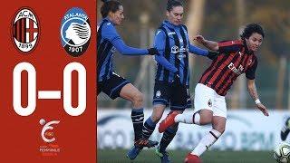Highlights AC Milan 0-0 AtalantaMozzanica - Matchday 10 Women's Serie A 2018/19