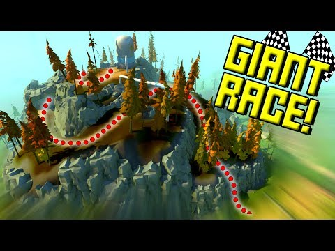 GIANT MARATHON RACE with CUSTOM NEW TERRAIN! - Scrap Mechanic Multiplayer Monday! Ep44