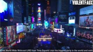 New York Times Square Ball Drop 2012 (Lady Gaga And Mayor