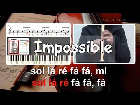 Impossible   James Arthur   Karaoke e notas para flauta   Cifra guitarra   Jose Galvao