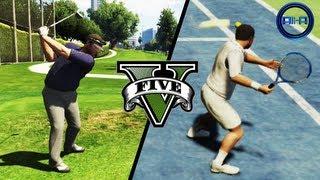 GTA V Gameplay TENNIS & GOLF! SPORTS! (Grand Theft