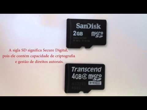 Cartão de memória micro SD e  SDHC. Qual a diferença?