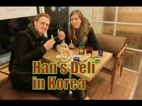 0 Eating Korean Fusion Food (Hans Deli) Pasta, Chicken Fingers, Fries & Garlic Bread in Yongin, Korea
