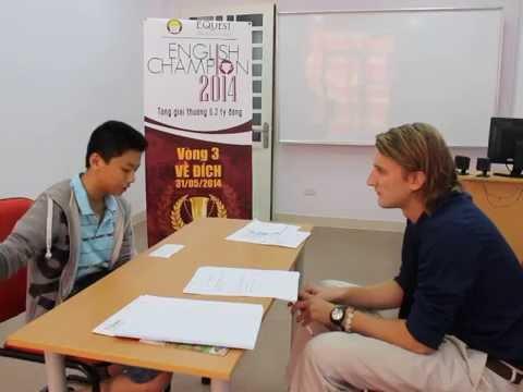 Phần thi Nói của Nguyễn Đình Anh Kiệt - Vòng 3 English Champion