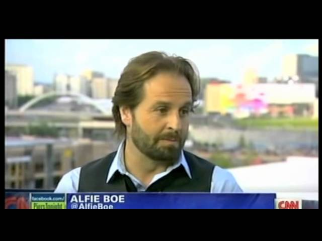 Alfie Boe with Piers Morgan