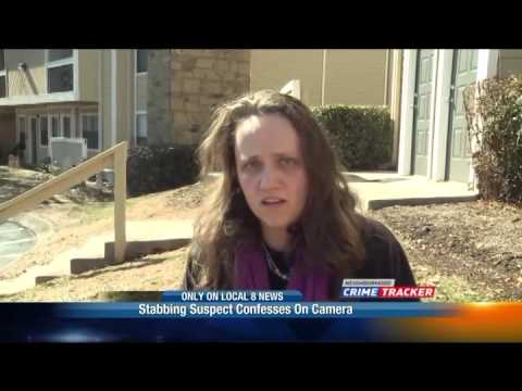 Video: Woman confesses stabbing of 'Antichrist' mother to news crew