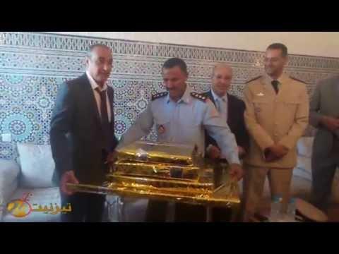 تكريم القائد الاقليمي للوقاية المدنية بتيزنيت / فيديو