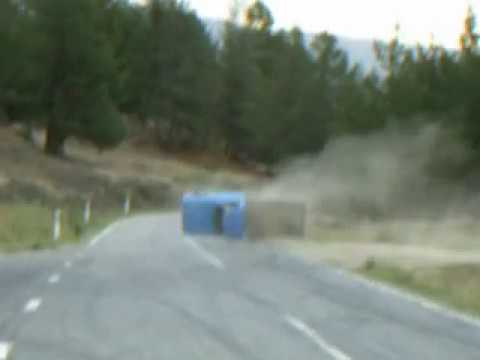 Kiwi Ute Driver Crashes, Rolls, Flips and Drives Away
