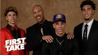 LaVar Ball Says Middle Son LiAngelo Ball Won't Make NBA  | First Take | June 22, 2017