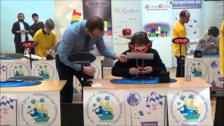 Solving Rubik's Cube in 21.17 Seconds, Blindfolded