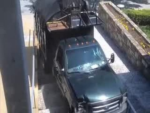 RAW: Surveillance video of truck ramming WMAR-TV
